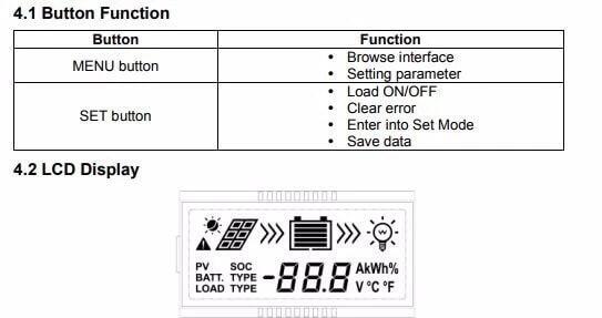 Controlador Solar 45 Amperes VS4524AU