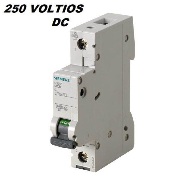 breaker 16 amperes 250 voltios dc